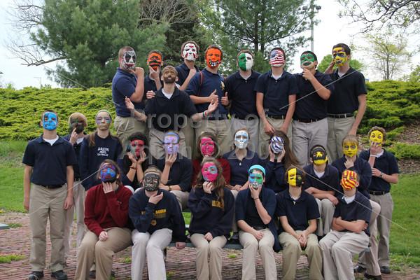 8th grade masks . 4.25.12