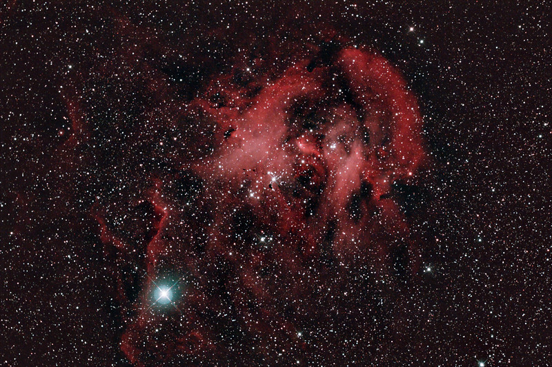 Caldwell 100 - Gum 39/40/41/42 - Running Chicken or Lamda Centauri Nebula in Centaurus - 19/12/2020 (Processed stack)