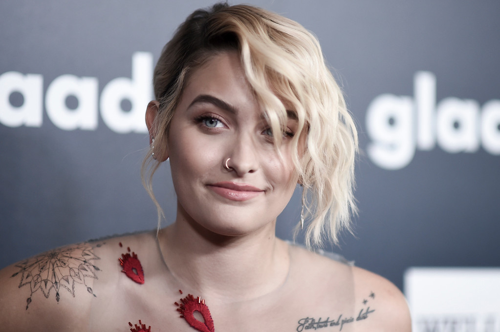 . Paris Jackson attends the 28th Annual GLAAD Media Awards at the Beverly Hilton Hotel on Saturday, April 1, 2017, in Beverly Hills, Calif. (Photo by Richard Shotwell/Invision/AP)