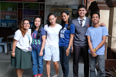 Yca and her batch drop by SFAMSC