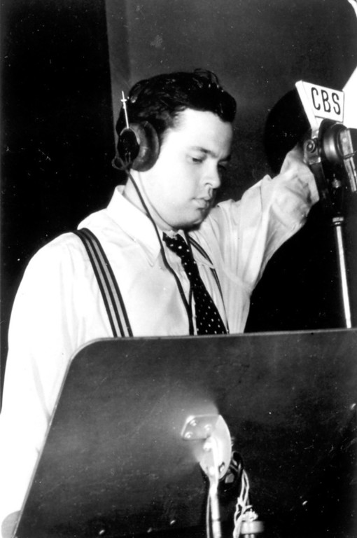 ". On October 30, 1938, Orson Welles presented a radio interpretation of H.G. Wells\' ""War of the Worlds.\""   Los Angeles Daily News file photo"