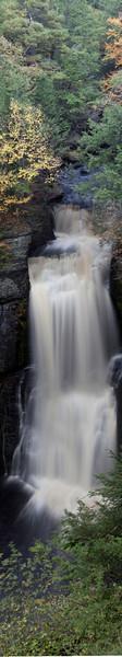Bushkill Falls. Panoramic  The Niagara of Pennsylvania