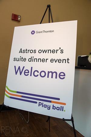 Grant Thornton Astros  Owner;'s Suite Dinner Event