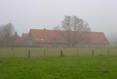 Entre Ossel et Wolvertem, brouillard à Noël