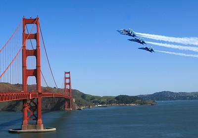 #KW-26 Blue Angels Over Golden Gate Bridge