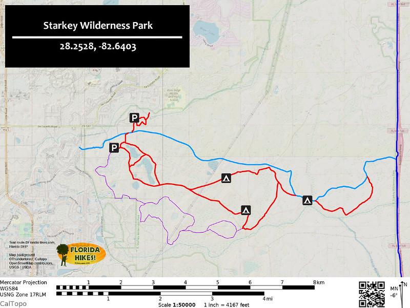 Starkey Wilderness Park Trail Map
