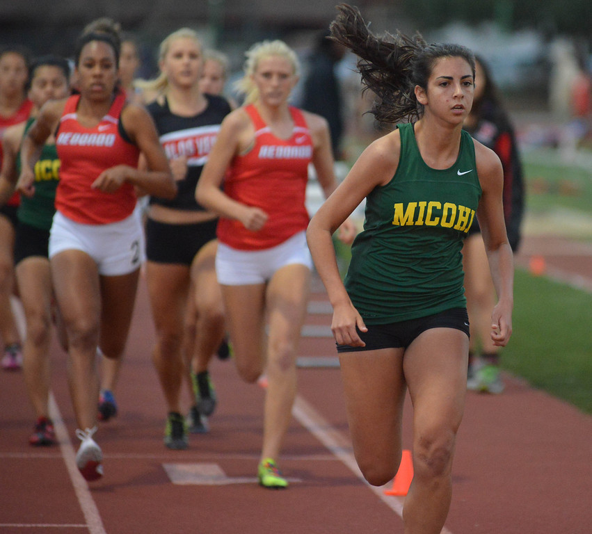 . 05-03-2013-(LANG Staff Photo by Sean Hiller)-  The Bay League track and field finals Friday night at Mira