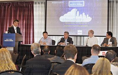 The Puget Sound Business Journal hosts inaugural Cloud City panel discussion in Seattle, Wash.