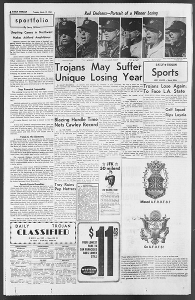 Daily Trojan, Vol. 54, No. 84, March 19, 1963
