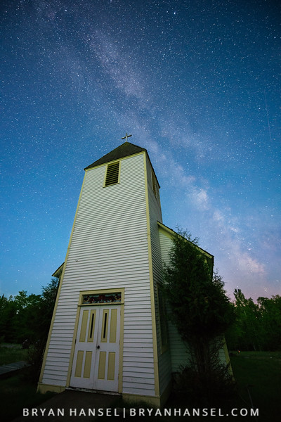 Milky Way over Maple Hill Church