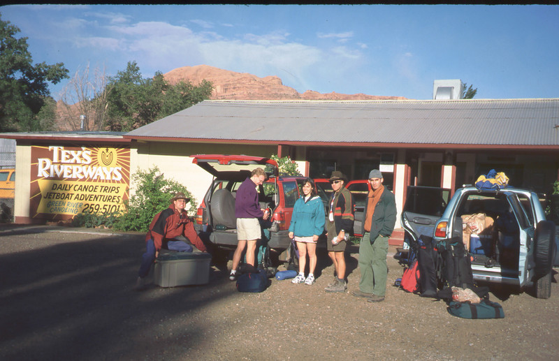 Starting out late May, Memorial Day weekend, 1997 in Moab, UT. .. Kevin handles the heavy lifting!