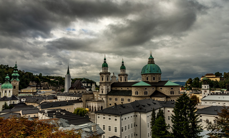 View of Salzburg after the storm