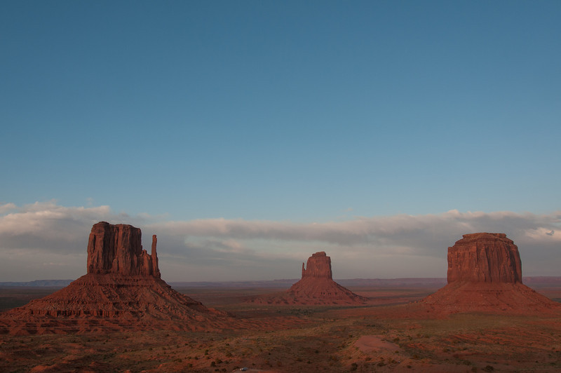 Panorama of Monument Valley from the valley floor
