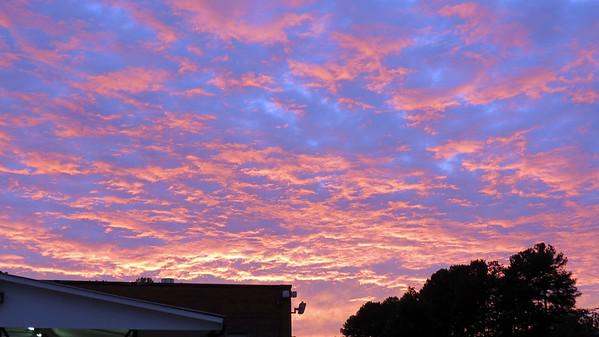 October 3:  Another beautiful sky .  .  .