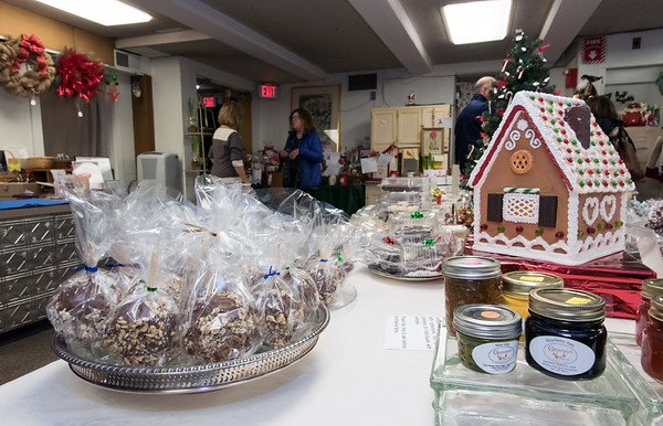 11/30/18 Wesley Bunnell | Staff The Berlin Historical Society is holding their annual craft fair Friday 11/30 and Saturday 12/1 at their museum at 305 Main St with the theme of a child's Christmas in Berlin.