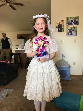 Amelia first communion