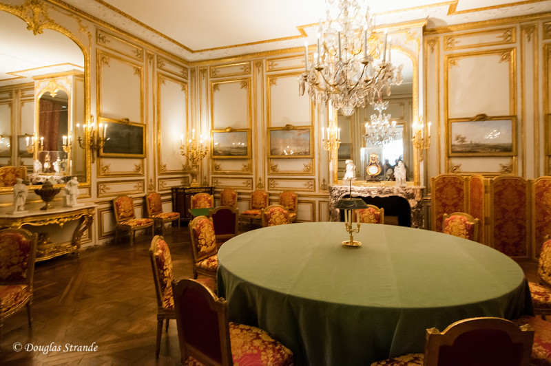 Inside the Chateu Versailles: a card room...Marie Antoinette loved to play cards