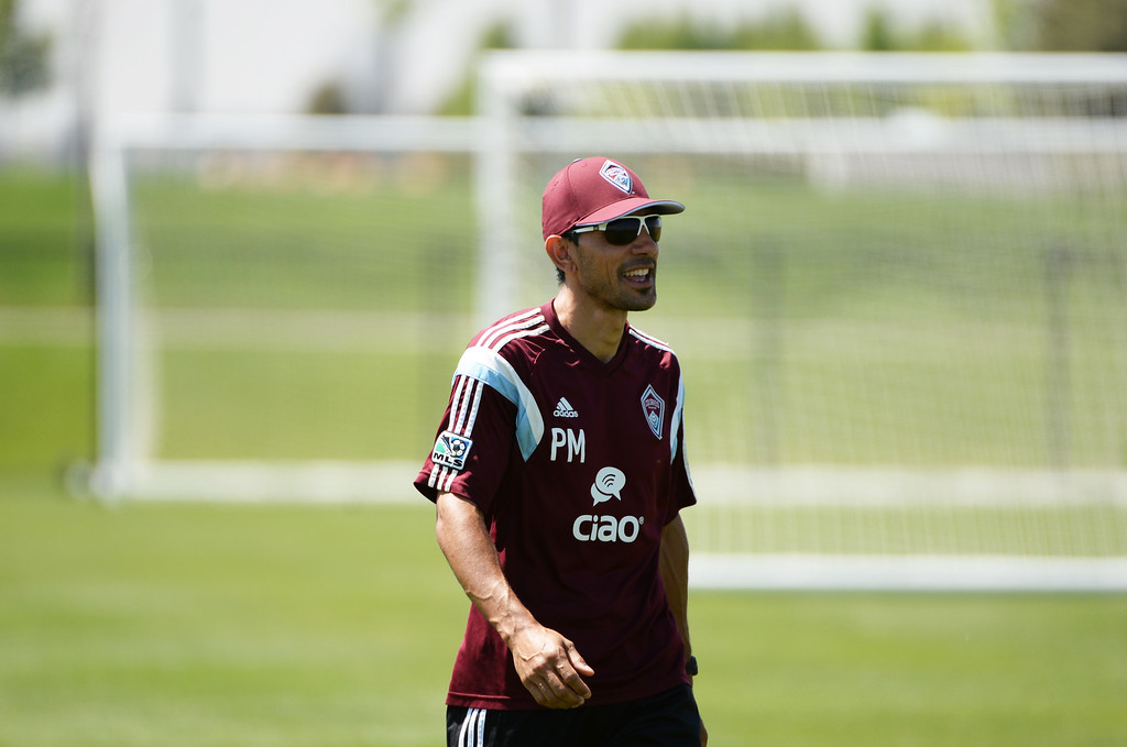 . Colorado Rapids coach Pablo Mastroeni is in the practice field of Dick\'s Sporting Goods Park. Commerce City, Colorado. July 03. 2014.  (Photo by Hyoung Chang/The Denver Post)