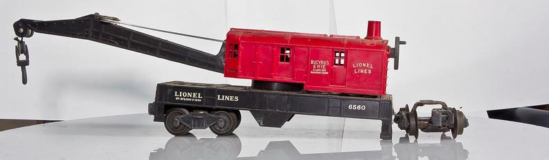 6560 Lionel Lines Bucyrus Erie Crane Car Red