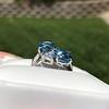 Mid-Century Aqua and Diamond Bypass Ring, by Seaman Schepps 12
