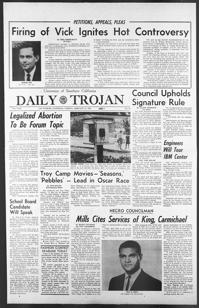 Daily Trojan, Vol. 58, No. 75, February 21, 1967