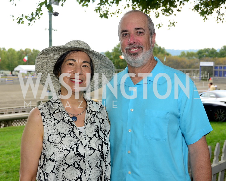 Jean and Eric Edelman,  NVTRP Ride to Thrive Polo Classic, Great Meadow, Sep 28, 2019, photo by Nancy Milburn Kleck