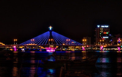 Da Nang colorful bridge