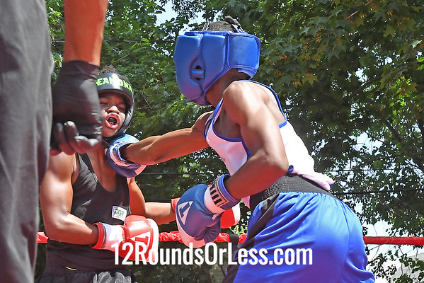 Bout 3 Joe Riley, Blue Gloves, Cleveland -vs- Brishaun Jackson, Red Gloves, Cleveland, 116 Lbs