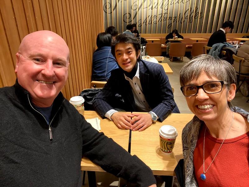 Joe and Silk with Rev. Takahiro Ami