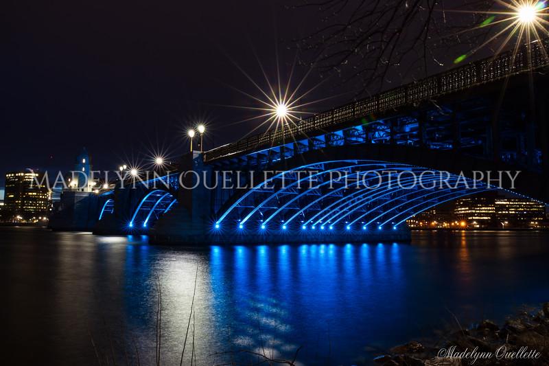 Longfellow Bridge in Blue 3