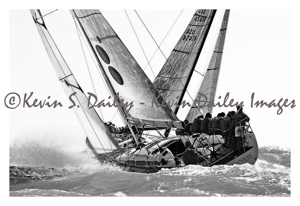 B&W sailing prints