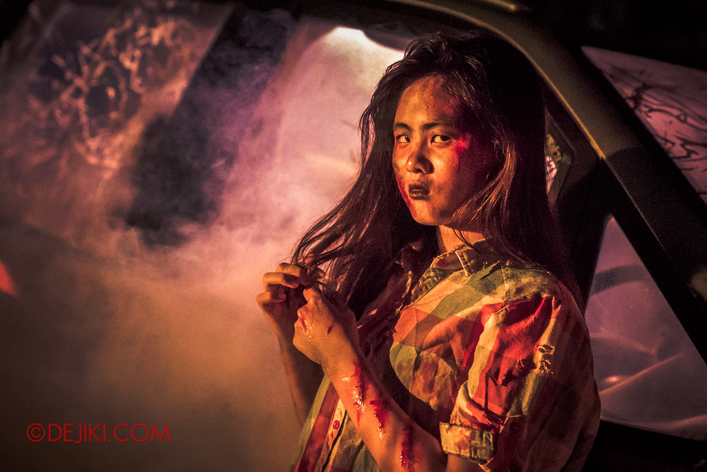 Halloween Horror Nights 6 Final Weekend - Suicide Forest / Crash girl