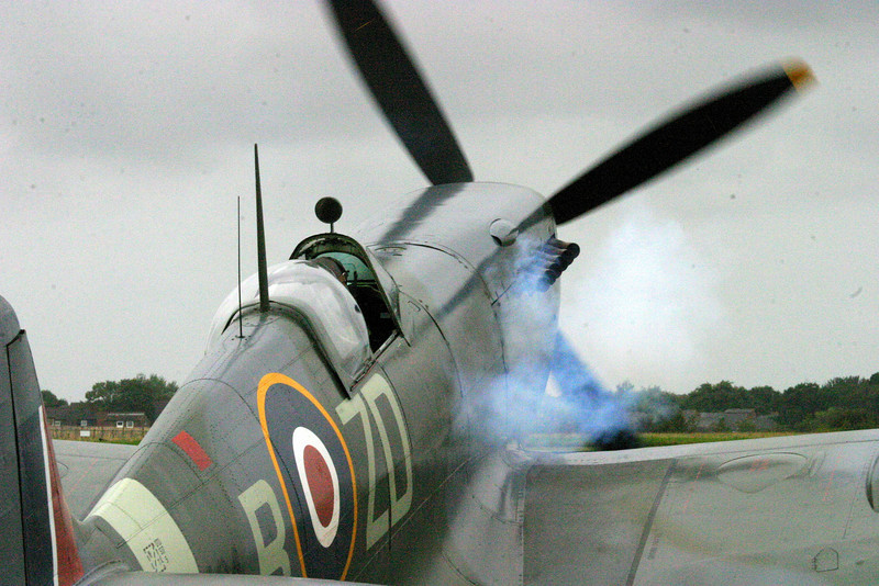 2006 Goodwood Revival, Watching  and smelling the exhaust of a Spitfire coming to life on a cool, damp early morning is spectacular!