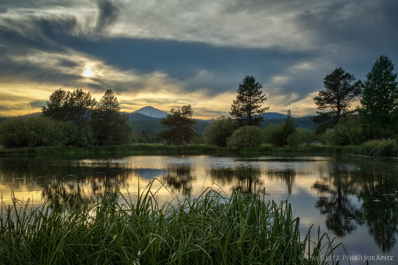 Sun and clouds - at Sunriver, Oregon