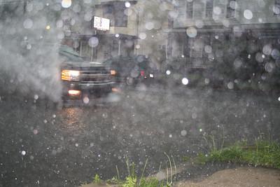Cars Driving Through Water, SR309, Tamaqua (5-26-2012)