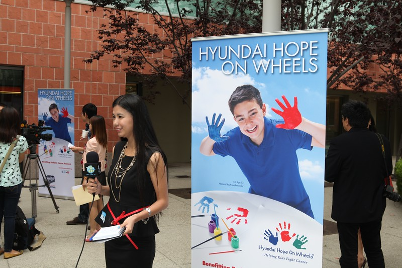 LOS ANGELES, CA - JUNE 22: The Hyundai Hope on Wheels Handprint Ceremony and Hyundai Scholar Grant to support the Pediatric Cancer Research at Children's Hospital Los Angeles on June 22, 2012 in Los Angeles, California. (Photo by Ryan Miller/Capture Imaging)