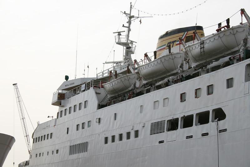 2008 - F/B VERONICA LINE docked in shipyard in Napoli.