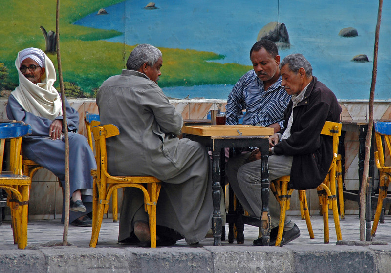 a friendly game of backgammon