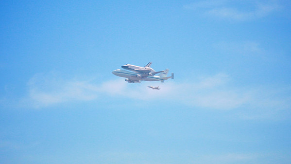 Endeavor over L.A.
