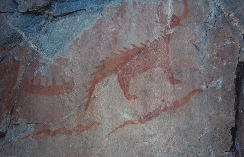 Agawa Canyon 1997 -Pictograph