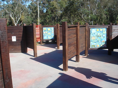 maze with timber fencing