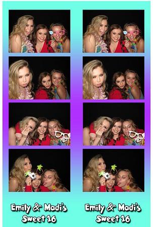 Emily & Madi's Sweet 16 5-20-16