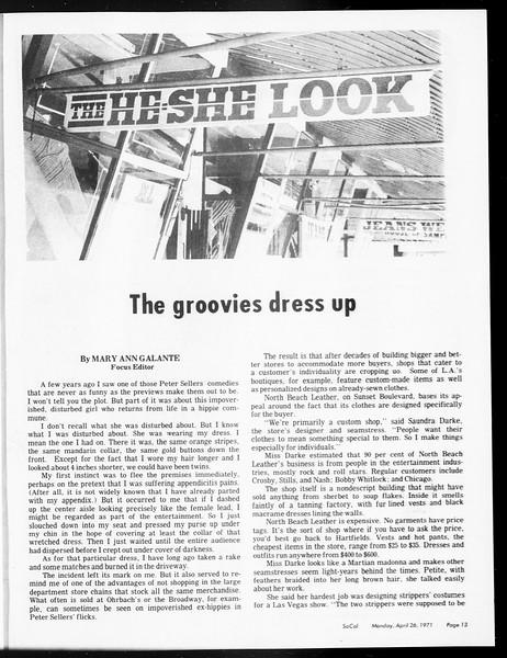 SoCal, Vol. 62, No. 110, April 26, 1971
