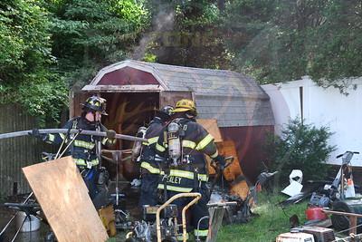 South Farmingdale F.D.  Shed Fire  Parkdale Drive  6/25/21