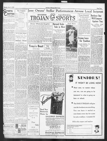 Daily Trojan, Vol. 26, No. 145, May 27, 1935