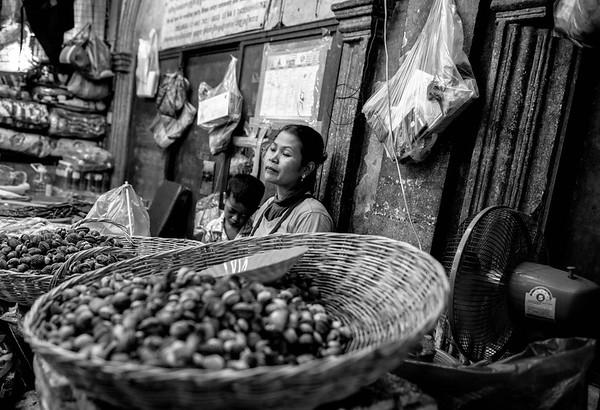 A long day at the market.  Cambodia -2017