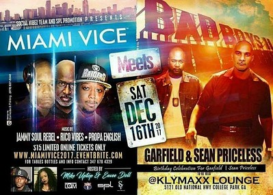 MIAMI VICE MEETS BAD BOYS SEAN PRICELESS & GARFIELD BIRTHDAY BASH 2017