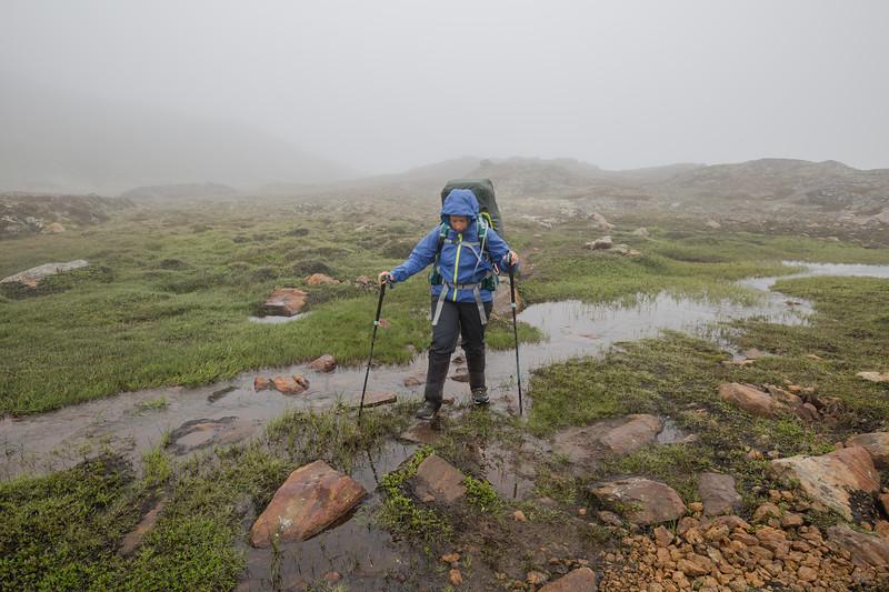 Crossing a creek in Greenland