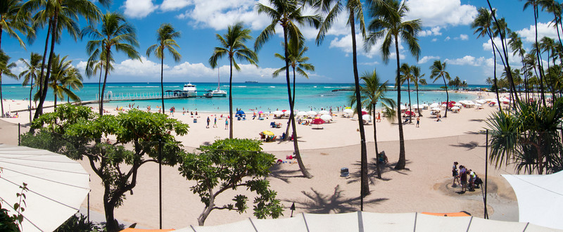 View of beach from Hilton Hawaiian Village