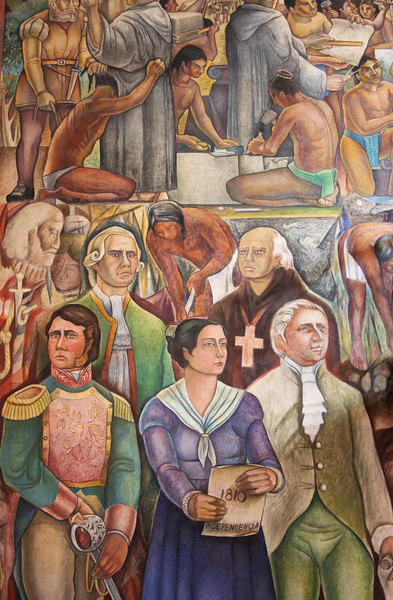 mural inside a government building in colima